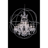 Geneva 25 Light 60 inch Polished Nickel Pendant Ceiling Light in Clear