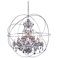 Elegant Lighting Geneva 25 Light Pendant in Polished Nickel with Royal Cut Silver Shade Crystal 1130G60PN-SS/RC