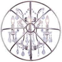 Urban Classic by Elegant Lighting Geneva 3 Light Wall Sconce in Polished Nickel with Royal Cut Clear Crystal 1130W21PN/RC
