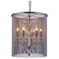 Brooklyn 6 Light 22 inch Mocha Brown Pendant Ceiling Light