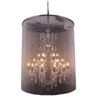 Elegant Lighting Brooklyn 25 Light Pendant in Mocha Brown with Royal Cut Clear Crystal 1131G44MB/RC