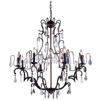 Urban Classic by Elegant Lighting Charlotte 8 Light Pendant in Antique Bronze with Royal Cut Clear Crystal 1132G40AB/RC