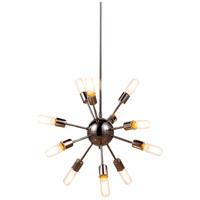 Elegant Lighting 1134D21PN Cork 12 Light 21 inch Polished Nickel Pendant Ceiling Light Urban Classic