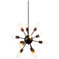 Elegant Lighting 1134D21VS Cork 12 Light 21 inch Vintage Steel Pendant Ceiling Light Urban Classic
