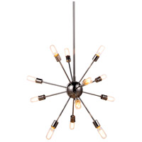 Elegant Lighting 1134D30PN Cork 12 Light 30 inch Polished Nickel Pendant Ceiling Light Urban Classic
