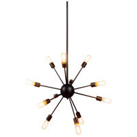 Cork 12 Light 30 inch Vintage Steel Pendant Ceiling Light