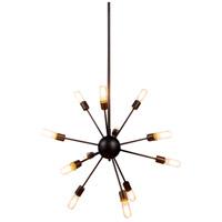 Elegant Lighting 1134D30VS Cork 12 Light 30 inch Vintage Steel Pendant Ceiling Light Urban Classic