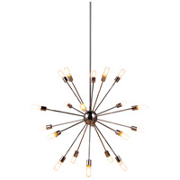 Elegant Lighting 1134G40PN Cork 20 Light 41 inch Polished Nickel Pendant Ceiling Light Urban Classic