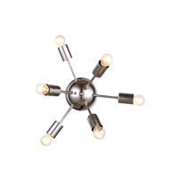 Urban Classic by Elegant Lighting Cork 6 Light Convertible Wall Ceiling Flush Mount in Polished Nickel 1134WF21PN