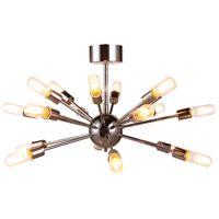 Cork 18 Light 30 inch Polished Nickel Semi Flush Ceiling Light, Urban Classic