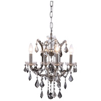 Elena 4 Light 13 inch Polished Nickel Chandelier Ceiling Light in Silver Shade, Urban Classic