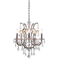 Urban Classic by Elegant Lighting Elena 5 Light Chandelier in Polished Nickel with Royal Cut Clear Crystal 1138D18PN/RC