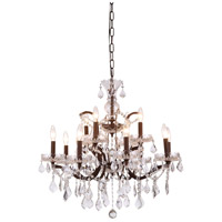 Elegant Lighting 1138D26RI/RC Elena 12 Light 26 inch Rustic Intent Chandelier Ceiling Light in Clear, Urban Classic