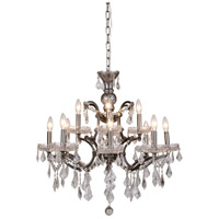 Elena 12 Light 26 inch Raw Steel Chandelier Ceiling Light in Clear