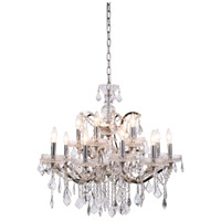 Elegant Lighting 1138D30PN/RC Elena 15 Light 30 inch Polished Nickel Chandelier Ceiling Light in Clear, Urban Classic