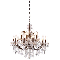 Elegant Lighting 1138D30RI/RC Elena 15 Light 30 inch Rustic Intent Chandelier Ceiling Light in Clear, Urban Classic