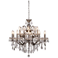 Urban Classic by Elegant Lighting Elena 15 Light Chandelier in Raw Steel with Royal Cut Clear Crystal 1138D30RS/RC
