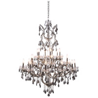Elegant Lighting 1138G41PN-SS/RC Elena 25 Light 41 inch Polished Nickel Chandelier Ceiling Light in Silver Shade, Urban Classic
