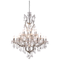 Urban Classic by Elegant Lighting Elena 25 Light Chandelier in Polished Nickel with Royal Cut Clear Crystal 1138G41PN/RC
