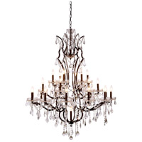 Urban Classic by Elegant Lighting Elena 25 Light Chandelier in Rustic Intent with Royal Cut Clear Crystal 1138G41RI/RC