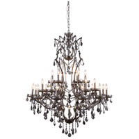 Elena 25 Light 41 inch Raw Steel Chandelier Ceiling Light, Urban Classic