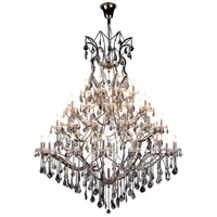 Elegant Lighting 1138G60PN-SS/RC Elena 49 Light 60 inch Polished Nickel Chandelier Ceiling Light in Silver Shade, Urban Classic