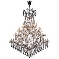 Elegant Lighting 1138G60PN-SS/RC Elena 49 Light 60 inch Polished Nickel Chandelier Ceiling Light in Silver Shade Urban Classic