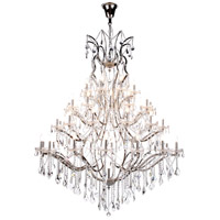 Elegant Lighting 1138G60PN/RC Elena 49 Light 60 inch Polished Nickel Chandelier Ceiling Light in Clear, Urban Classic