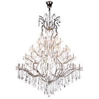 Elegant Lighting 1138G60PN/RC Elena 49 Light 60 inch Polished Nickel Chandelier Ceiling Light in Clear Urban Classic