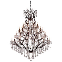 Elegant Lighting 1138G60RI/RC Elena 49 Light 60 inch Rustic Intent Chandelier Ceiling Light in Clear, Urban Classic