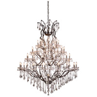 Urban Classic by Elegant Lighting Elena 49 Light Chandelier in Raw Steel with Royal Cut Clear Crystal 1138G60RS/RC