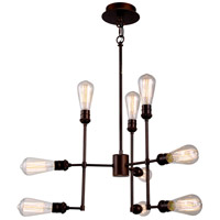 Ophelia 9 Light 23 inch Cocoa Brown Pendant Ceiling Light, Urban Classic
