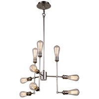 Ophelia 9 Light 23 inch Polished Nickel Pendant Ceiling Light