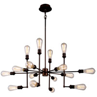 Urban Classic by Elegant Lighting Ophelia 15 Light Pendant in Cocoa Brown 1139D43CB