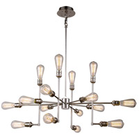 Elegant Lighting 1139D43PN Ophelia 15 Light 43 inch Polished Nickel Pendant Ceiling Light, Urban Classic