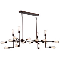 Elegant Lighting 1139D49CB Ophelia 20 Light 49 inch Cocoa Brown Island Pendant Ceiling Light, Urban Classic