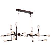 Elegant Lighting 1139D49CB Ophelia 20 Light 49 inch Cocoa Brown Island Pendant Ceiling Light Urban Classic