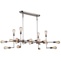 Elegant Lighting 1139D49PN Ophelia 20 Light 49 inch Polished Nickel Island Pendant Ceiling Light, Urban Classic