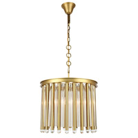 Maxwell 4 Light 20 inch Burnished Brass Chandelier Ceiling Light, Urban Classic