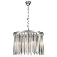 Elegant Lighting 1140D26PN Maxwell 6 Light 26 inch Polished Nickel Chandelier Ceiling Light, Urban Classic