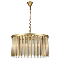 Elegant Lighting 1140D32BB Maxwell 8 Light 32 inch Burnished Brass Chandelier Ceiling Light, Urban Classic