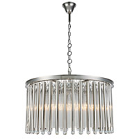 Elegant Lighting 1140D32PN Maxwell 8 Light 32 inch Polished Nickel Chandelier Ceiling Light Urban Classic