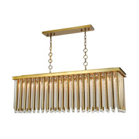Elegant Lighting 1140G50BB Maxwell 10 Light 14 inch Burnished Brass Chandelier Ceiling Light, Urban Classic