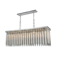 Elegant Lighting 1140G50PN Maxwell 10 Light 14 inch Polished Nickel Chandelier Ceiling Light, Urban Classic