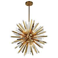 Maxwell 21 Light 36 inch Burnished Brass Chandelier Ceiling Light, Urban Classic