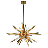 Elegant Lighting 1141G38BB Maxwell 14 Light 38 inch Burnished Brass Chandelier Ceiling Light, Urban Classic