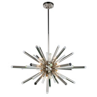 Elegant Lighting 1141G38PN Maxwell 14 Light 38 inch Polished Nickel Chandelier Ceiling Light, Urban Classic