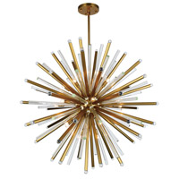 Elegant Lighting 1141G48BB Maxwell 21 Light 48 inch Burnished Brass Chandelier Ceiling Light, Urban Classic