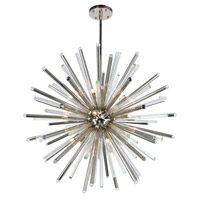 Elegant Lighting 1141G48PN Maxwell 21 Light 48 inch Polished Nickel Chandelier Ceiling Light, Urban Classic