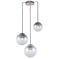 Elegant Lighting 1142D23PN Beckett 3 Light 23 inch Polished Nickel Chandelier Ceiling Light, Urban Classic